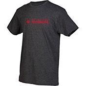 boxercraft Men's San Diego State Aztecs Grey Just for You Crew Block Wordmark and Logo T-Shirt