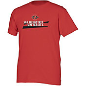boxercraft Men's San Diego State Aztecs Scarlet Just for You Crew Wordmark and Logo T-Shirt