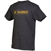 boxercraft Men's East Tennessee State Buccaneers Grey Just for You Crew Block Wordmark and Logo T-Shirt