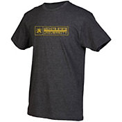 boxercraft Men's Wichita State Shockers Grey Just for You Crew Block Wordmark and Logo T-Shirt
