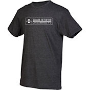 boxercraft Men's Iowa State Cyclones Grey Just for You Crew Block Wordmark and Logo T-Shirt