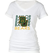 boxercraft Women's Baylor Bears Perfect Fit V-Neck White T-Shirt