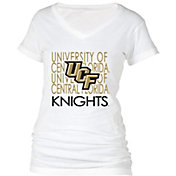 boxercraft Women's UCF Knights Perfect Fit V-Neck White T-Shirt