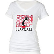 boxercraft Women's Cincinnati Bearcats Perfect Fit V-Neck White T-Shirt