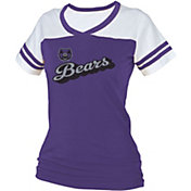 boxercraft Women's Central Arkansas Bears Purple/White Powder Puff T-Shirt
