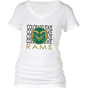 boxercraft Women's Colorado State Rams Perfect Fit V-Neck White T-Shirt