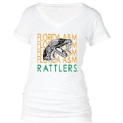 boxercraft Women's Florida A&M Rattlers Perfect Fit V-Neck White T-Shirt