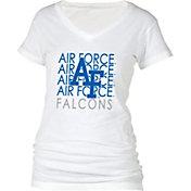 boxercraft Women's Air Force Falcons Perfect Fit V-Neck White T-Shirt