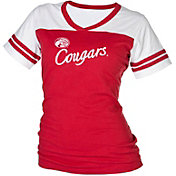 boxercraft Women's Houston Cougars Red/White Powder Puff T-Shirt