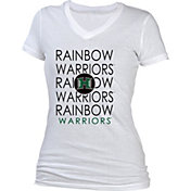 boxercraft Women's Hawai'i Warriors Perfect Fit V-Neck White T-Shirt