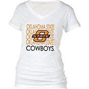boxercraft Women's Oklahoma State Cowboys Perfect Fit V-Neck White T-Shirt