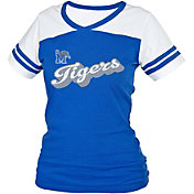 boxercraft Women's Memphis Tigers Blue/White Powder Puff T-Shirt