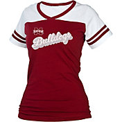 boxercraft Women's Mississippi State Bulldogs Maroon/White Powder Puff T-Shirt