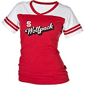 boxercraft Women's NC State Wolfpack Red/White Powder Puff T-Shirt