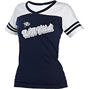 boxercraft Women's New Hampshire Wildcats Blue/White Powder Puff T-Shirt