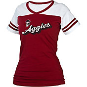 boxercraft Women's New Mexico State Aggies Crimson/White Powder Puff T-Shirt