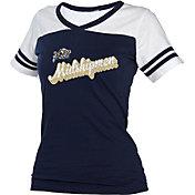boxercraft Women's Navy Midshipmen Powder Puff Navy/White T-Shirt