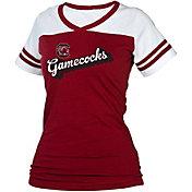 boxercraft Women's South Carolina Gamecocks Garnet/White Powder Puff T-Shirt