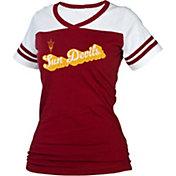 boxercraft Women's Arizona State Sun Devils Maroon/White Powder Puff T-Shirt