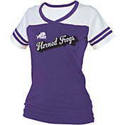 boxercraft Women's TCU Horned Frogs Purple/White Powder Puff T-Shirt