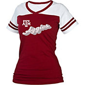 boxercraft Women's Texas A&M Aggies Maroon/White Powder Puff T-Shirt