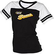 boxercraft Women's VCU Rams Black/White Powder Puff T-Shirt