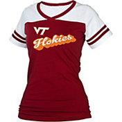 boxercraft Women's Virginia Tech Hokies Maroon/White Powder Puff T-Shirt