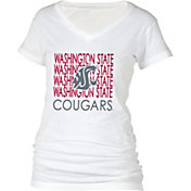 boxercraft Women's Washington State Cougars Perfect Fit V-Neck White T-Shirt