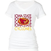 boxercraft Women's Iowa State Cyclones Perfect Fit V-Neck White T-Shirt