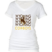 boxercraft Women's Wyoming Cowboys Perfect Fit V-Neck White T-Shirt