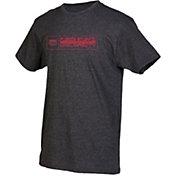 boxercraft Youth Florida Atlantic Owls Grey Just for You Crew Wordmark and Logo T-Shirt