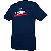 boxercraft Youth Florida Atlantic Owls Blue Just for You Crew Wordmark and Logo T-Shirt