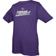 boxercraft Youth Furman Paladins Purple Just for You Crew Wordmark and Logo T-Shirt