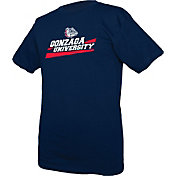 boxercraft Youth Gonzaga Bulldogs Blue Just for You Crew Wordmark and Logo T-Shirt