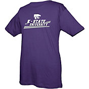 boxercraft Youth Kansas State Wildcats Purple Just for You Crew Wordmark and Logo T-Shirt