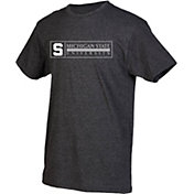 boxercraft Youth Michigan State Spartans Grey Just for You Crew Wordmark and Logo T-Shirt