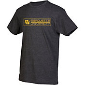 boxercraft Youth Marquette Golden Eagles Grey Just for You Crew Wordmark and Logo T-Shirt