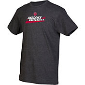 boxercraft Youth Indiana Hoosiers Grey Just for You Crew Wordmark and Logo T-Shirt