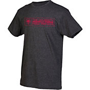 boxercraft Youth New Mexico Lobos Grey Just for You Crew Wordmark and Logo T-Shirt