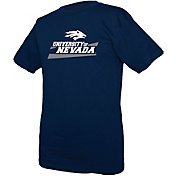 boxercraft Youth Nevada Wolf Pack Blue Just for You Crew Wordmark and Logo T-Shirt
