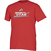 boxercraft Youth Utah Utes Crimson Just for You Crew Wordmark and Logo T-Shirt