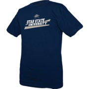 boxercraft Youth Utah State Aggies Blue Just for You Crew Wordmark and Logo T-Shirt