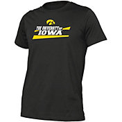 boxercraft Youth Iowa Hawkeyes Just for You Crew Wordmark and Logo Black T-Shirt