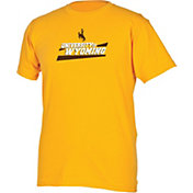 boxercraft Youth Wyoming Cowboys Gold Just for You Crew Wordmark and Logo T-Shirt