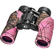Barska 8x30 WP Crossover Binoculars – Mossy Oak Winter in Pink