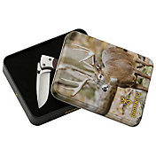 Browning 2016 Drop Point Folding Knife Whitetail Tin