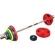 Body Solid 400 lb Bumper Set with Bar