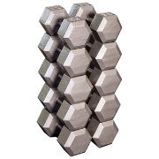 Body Solid Grey Hex 55-75 lb Dumbbell Set