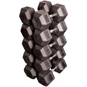 Body Solid Rubber Hex 80-100 lb Dumbbell Set