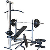 Body Solid PowerCenter Bench and 300 lb. Weight Set